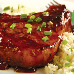 Spiced Apricot Glazed Pork Chops