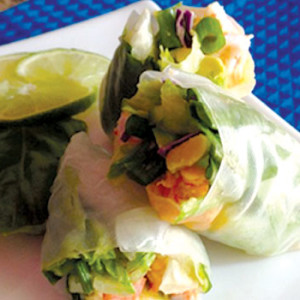 Firecracker Shrimp Summer Rolls