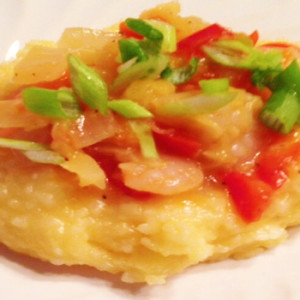 Shrimp and Pineapple Grits