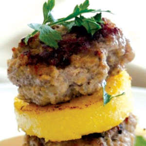 Veal Piccata and Polenta Napoleon