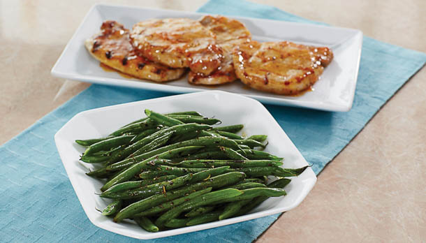 Sunny's Easy Balsamic Pan-Roasted Green Beans