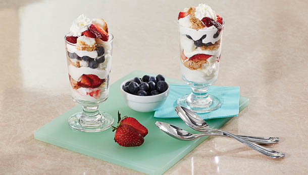 Sunny's Easy Red, White and Blue Parfait
