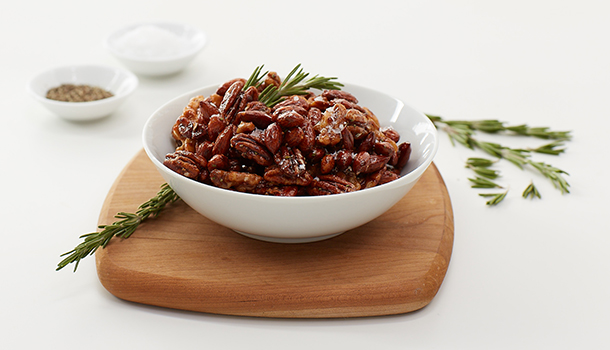 Sunny's Raspberry and Rosemary Glazed Nuts